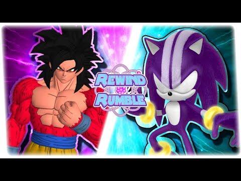 SSJ4 GOKU vs DARKSPINE SONIC! (Goku vs Sonic Animation) | REWIND RUMBLE BONUS