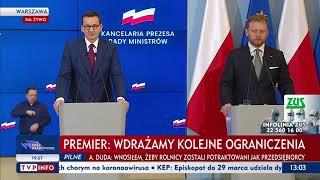 Konferencja prasowa premiera Morawieckiego