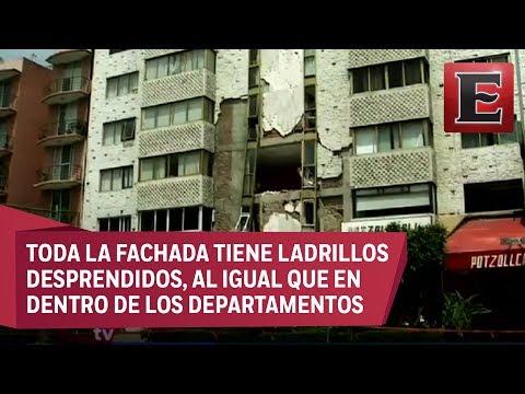 Pareja de ancianos en la CDMX se queda sin hogar por temblor