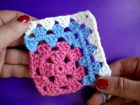 Как вязать квадрат Crochet