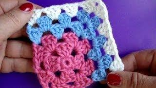 Вязание крючком Урок 243 Как вязать квадрат Crochet granny square
