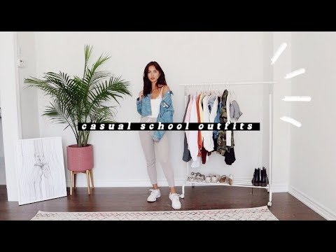 CASUAL BACK TO SCHOOL OUTFIT IDEAS | 2019