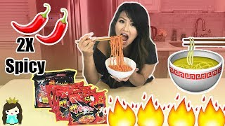 EXTREME SPICY RAMEN NOODLE CHALLENGE!
