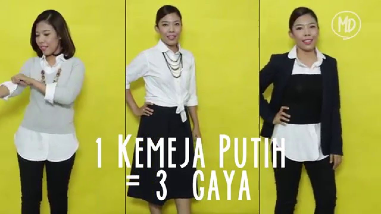Mix   Match 1 Kemeja Putih   3 Gaya - YouTube 19f4ff6015