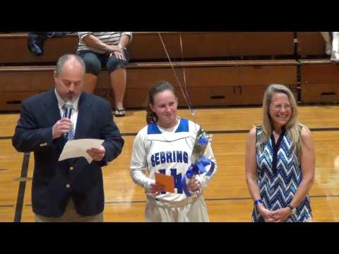 2017 Sebring High School Lady Blue Streaks Basketball Senior Night
