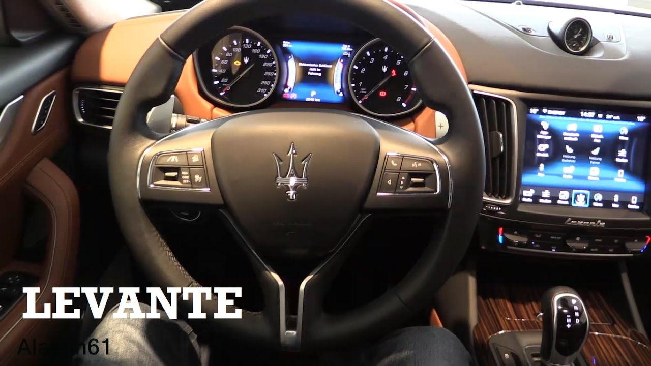 Maserati Levante Interior >> 2017 Maserati Levante - interior Review - YouTube