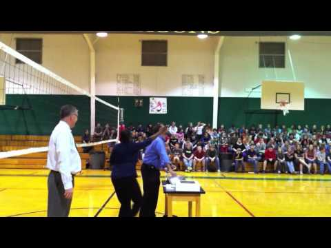 Bangs Middle School assembly
