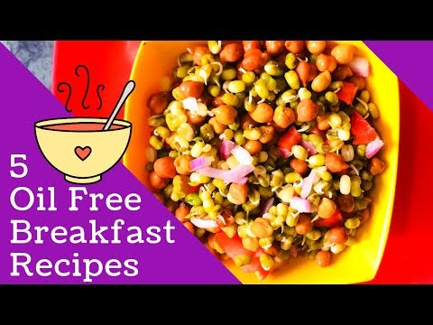 5 Quick and Easy Oil Free Breakfast Recipes | Weight Loss Tips | Pooja Pundir