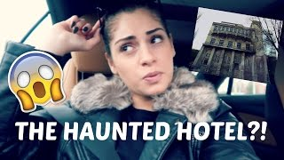 THE HAUNTED HOTEL!? VLOGMAS DAY 3!