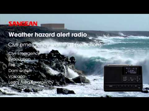 Sangean CL-100 S.A.M.E. Table-Top Weather Hazard Alert with AM / FM-RBDS Alarm Clock Radio