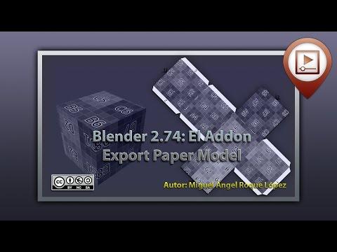 Blender 2.74 el Addon Export paper model