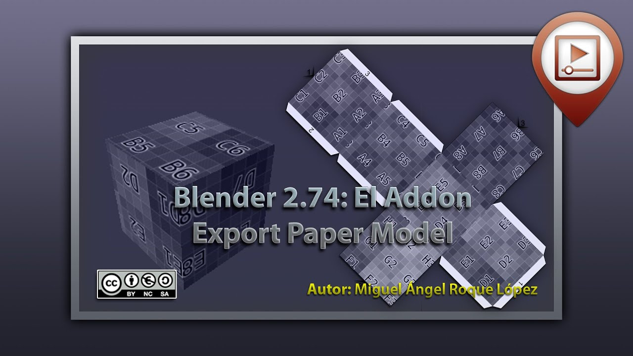 Papercraft Blender 2.74 el Addon Export paper model