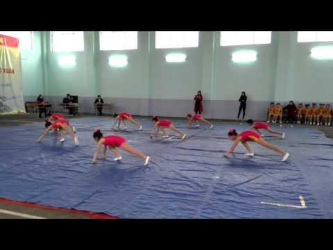 Tiết mục dự thi Aerobic của hs tiểu học Tây Hồ