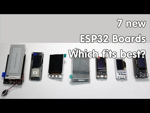 New ESP32 Boards with Displays