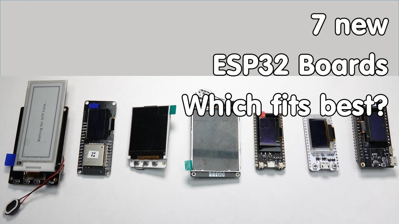 ESP32 Boards With Displays: An Overview | Hackaday