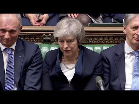 British PM Theresa May PMQs ahead of no-confidence vote in parliament