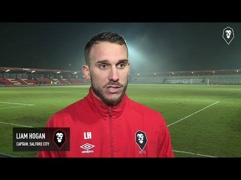 Salford City 2-1 Harrogate Town | Liam Hogan post-match interview