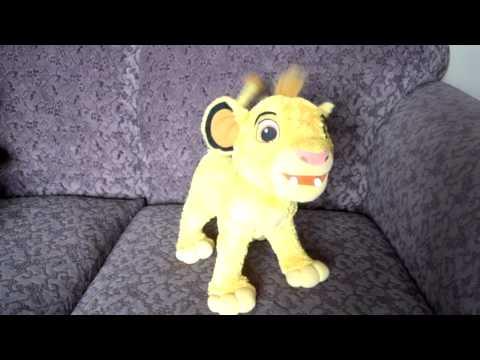 2002 DISNEY THE LION KING MY SINGIN SIMBA PLUSH ANIMATED TOY
