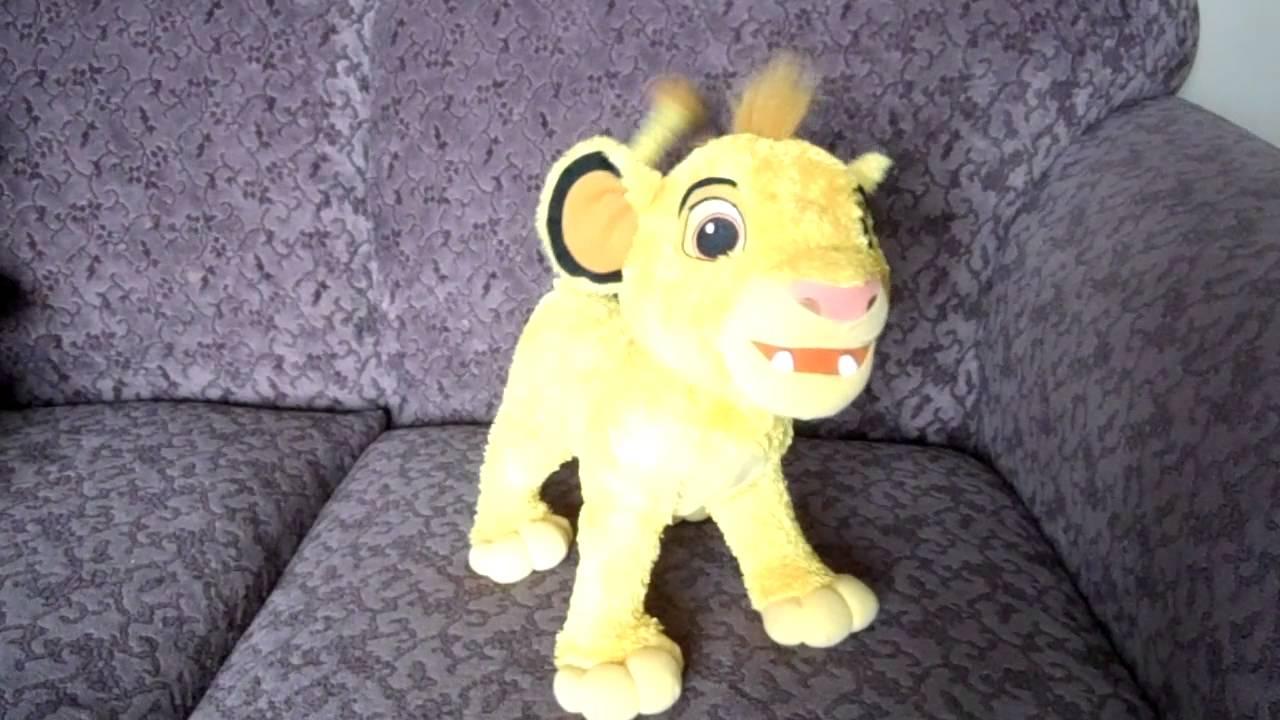 2002 Disney The Lion King My Singin Simba Plush Animated Toy Youtube