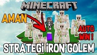 STRATEGI IRON GOLEM DI BEDWARS! | Minecraft Bedwars Indonesia
