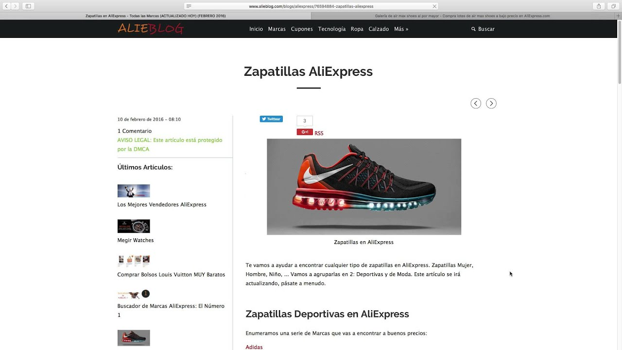 febrero Youtube Zapatillas Aliexpress 2016 Zapatillas Aliexpress q7t0z