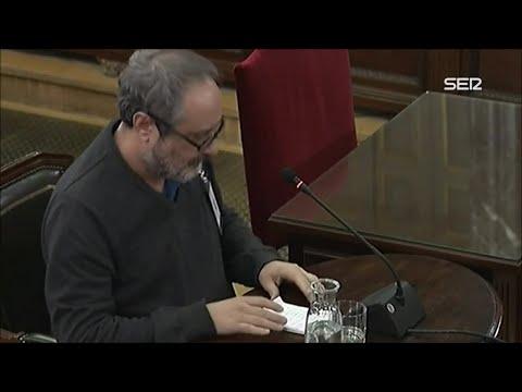 Antonio Baños se niega a responder a Vox en el juicio al procés