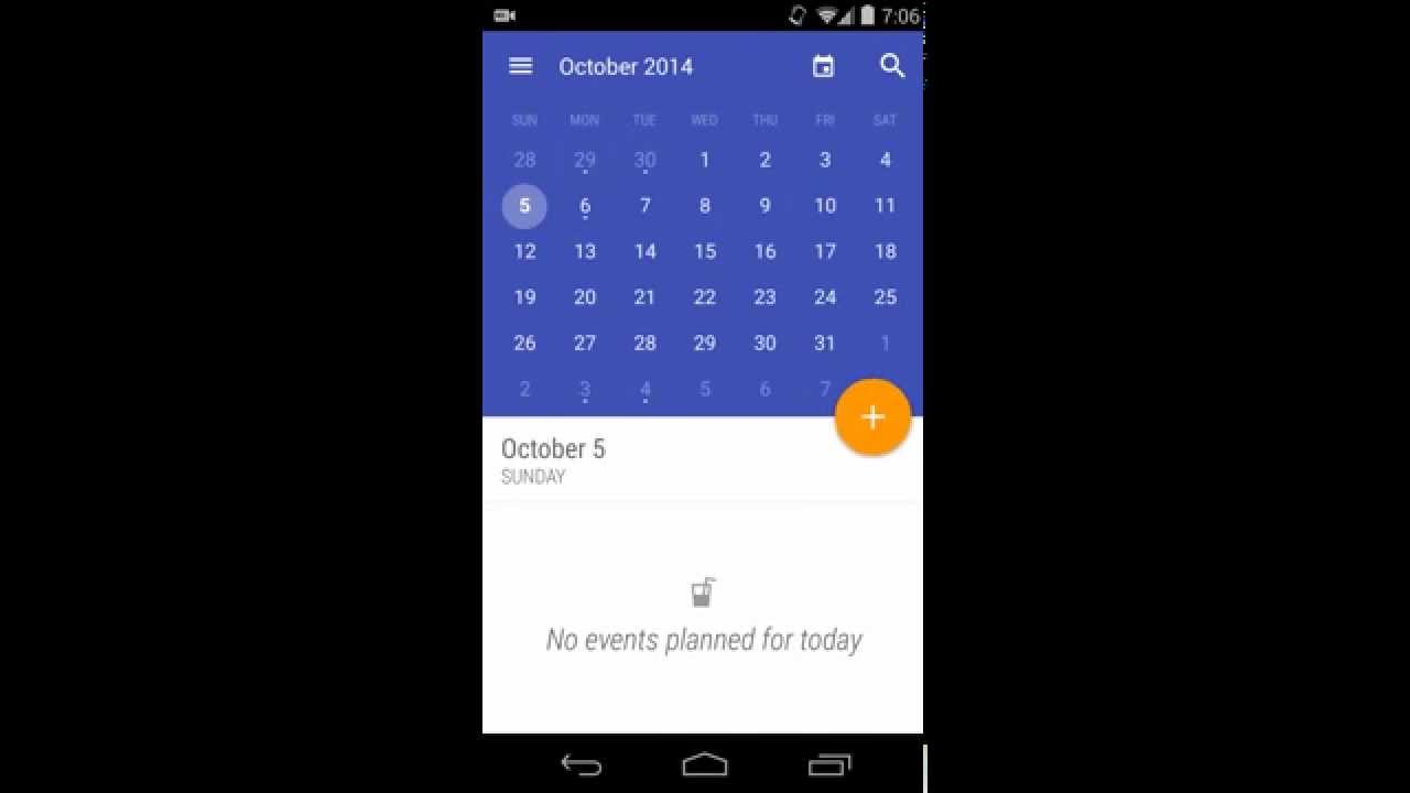 Calendar Design Material : Material design today calendar app youtube