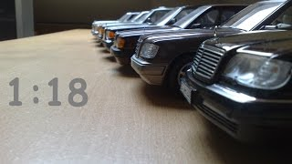 Evolution of the Mercedes Benz 1965 1998 118 diecast