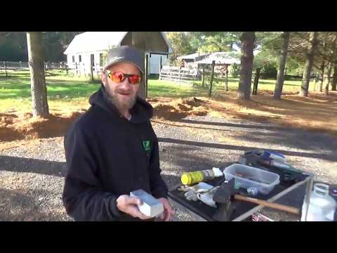 REDNECK Smelting: Pouring Aluminum with Rebar Tongs