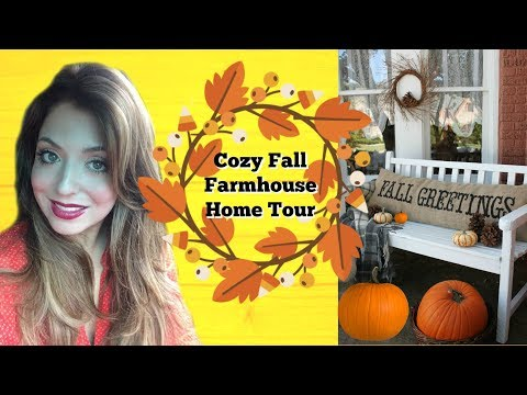 Cozy Fall Home Tour 2018 | Fall Decorating Ideas for Chilly Autumn Nights| FARMHOUSE| Rich and Sarah