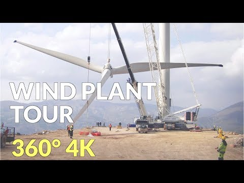 Wind Farm Construction - 360 VR video