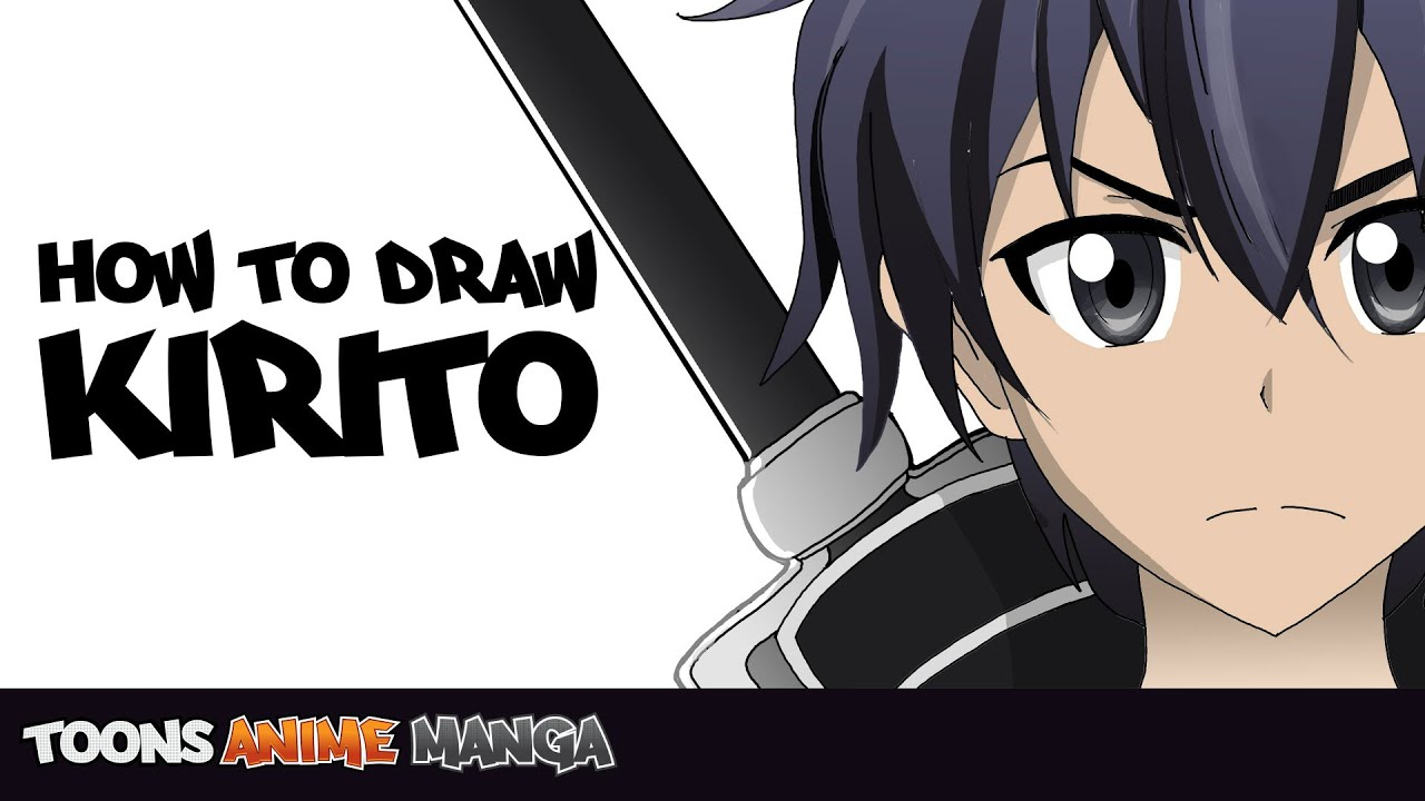 How To Draw Kirito Sword Art Online Youtube