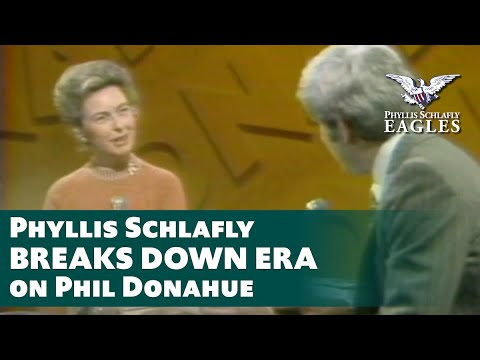 CLIP: Liberal Phil Donahue Loses It When Phyllis Schlafly Crushes ERA