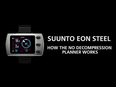 Suunto EON Steel - How The No Decompression Planner Works