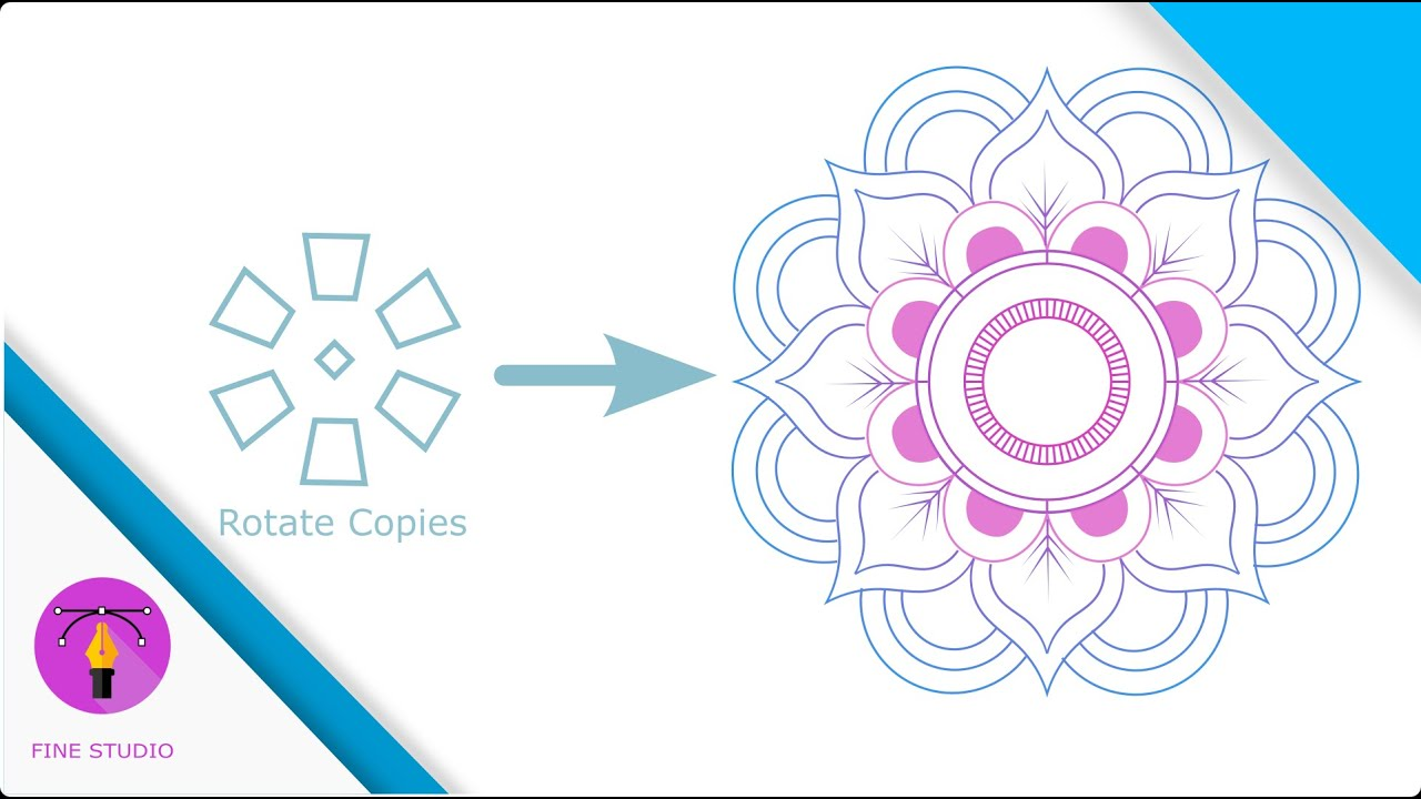 Inkscape 1.0 Mandala Tutorial : LPE Rotate Copies