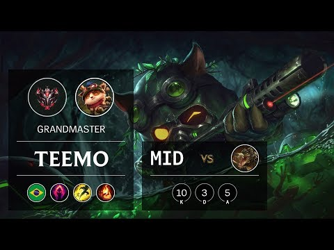 Teemo Mid vs Renekton - BR Grandmaster Patch 9.21