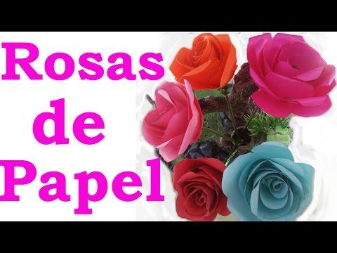 Rosas De Papel Faciles De Hacer Manualidades De Lina - Cmo-hacer-rosas-de-papel