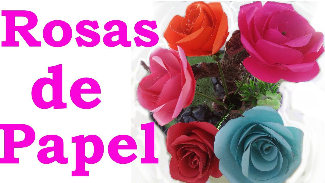 cmo hacer rosas de papel faciles y bonitas paso a paso youtube - Como Hacer Rosas De Papel