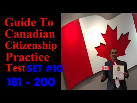 Citizenship Canada PRACTICE TEST SET 10 ( Discover CANADA )