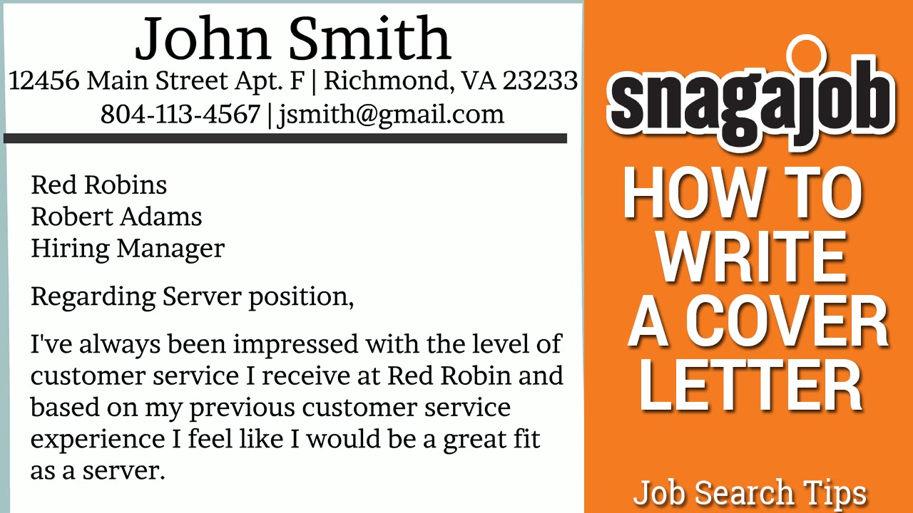 Job Search Tips Part 11 How to write a cover letter  YouTube