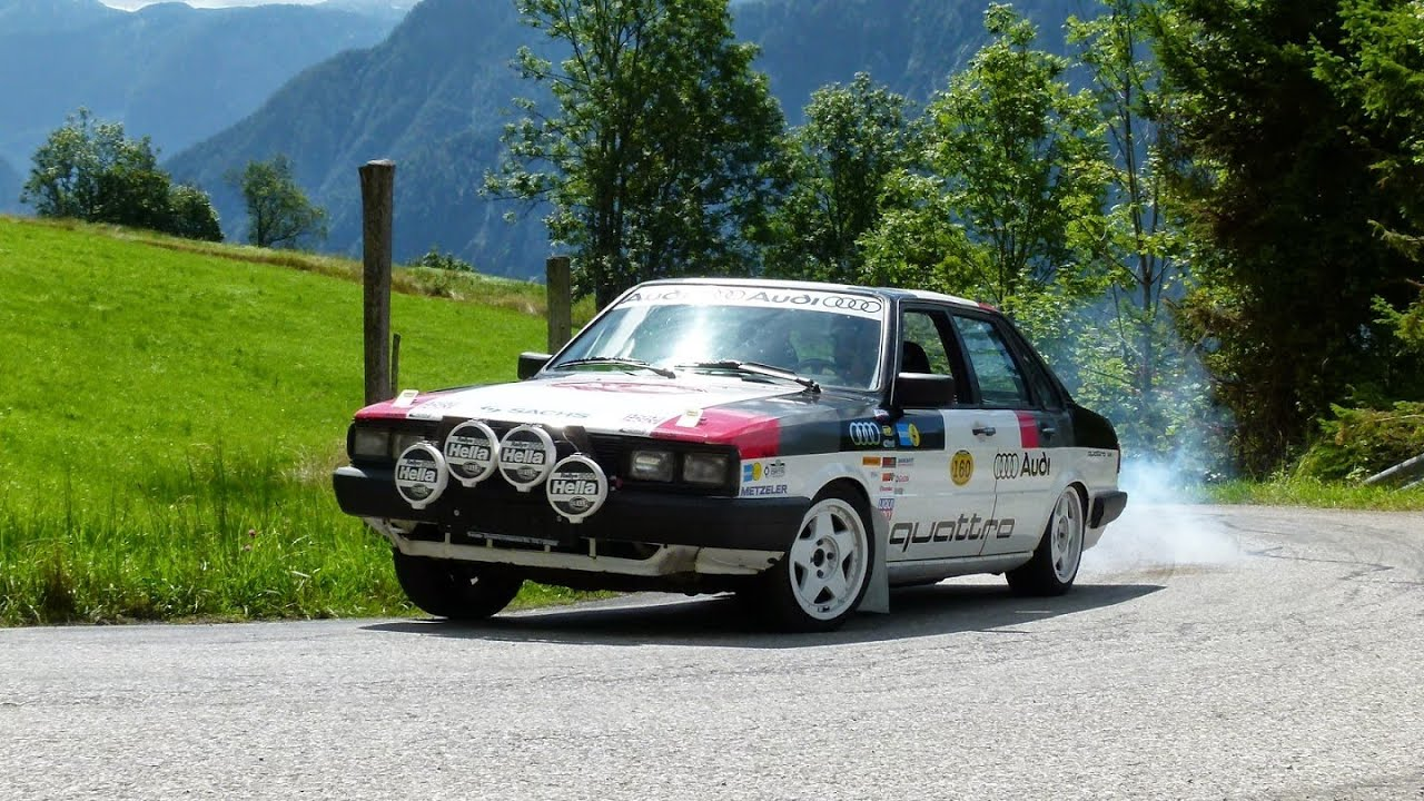 goisern classic 2015 im audi 80 quattro rallye typ85 youtube. Black Bedroom Furniture Sets. Home Design Ideas