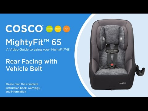 Mightyfit 65 Rear Facing With Vehicle Belt Installation Video Cosco Kids