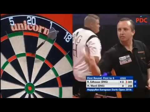 2016 European Darts Open Round 1 Edhouse vs Ward