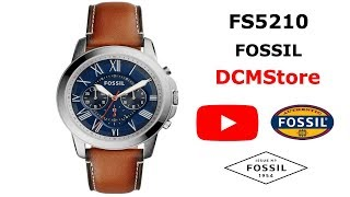 FS5210 Fossil Grant Chronograph Navy Blue Dial ...... DCMStore