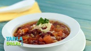 Spicy Salsa Bean Soup (iron Rich) By Tarla Dalal