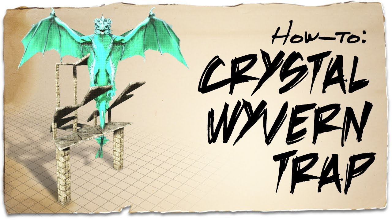 How to build a cheap Crystal Wyvern trap | ARK: Survival Evolved | Building Tips
