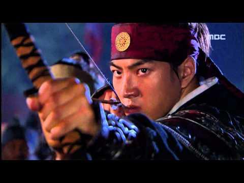 [고구려 사극판타지] 주몽 Jumong 활로 철기군들을 쓰러뜨리고 퇴각하는 주몽