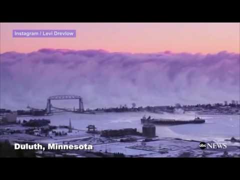 Massive Sea Smoke Wall Forms Over Lake Superior