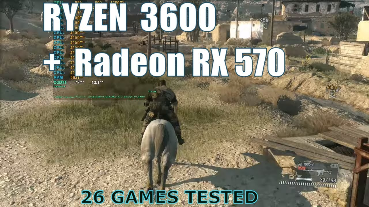 Ryzen 5 3600 with Radeon RX 570 26 Games Tested