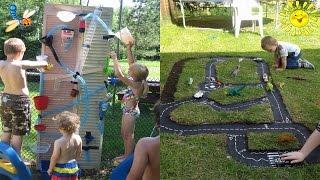видео Идеи для детской площадки своими руками: что можно сделать для игр и развлечений